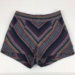 UO Ecote Tapestry Festival High Waist Shorts Sz 0